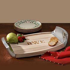 Torq Metal & Wood Tray by Dansk®