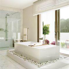 Reformas: planifica un baño con bañera y ducha