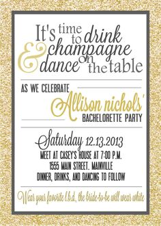 Bachelorette party invitation digital file by PaperLaneDesign, $12.00