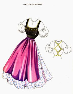 FolkCostume&Embroidery: Dirndls of Lower Austria, Niederösterreich Dirndl Dress, Folk Costume, Couture, Sewing Clothes, Traditional Outfits, Austria, Sewing Projects, Sewing Ideas, Inspiration