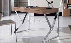 Secretária LE351, secretarias com gavetas novas - loja online moveistore Office Desk, Furniture, Home Decor, Walnut Wood, Drawers, Secretary, Desktop, Mesas, Desk Office
