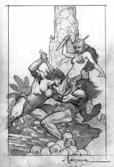 Tarzan Jewels Of Opar Cover Preliminary Comic Art