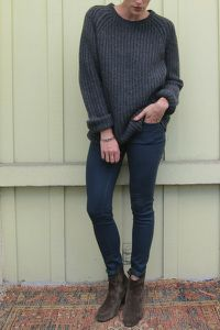 ACNE dark grey wool …
