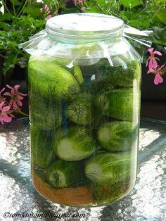 Tieto rýchlo kvasené uhorky sa u nás v rodine robia už celé desaťročia. Z detstva sa pamätám, že starká ich robila do veľkého starého (hád... Pickle Jars, Preserves, Pickles, Cucumber, Homemade, Canning, Vegetables, Health, How To Make