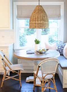 I love this one. Woven pendants give a space a textural, casual elegance. The trend in fashion and homes is to create a comfortable, we...
