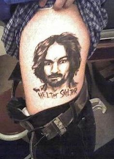 Strange things on pinterest public bathrooms skeletons for Charles manson tattoos