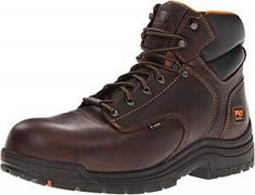 Timberland PRO Men's 90665 Work Boot Ankle-high work boot with waterproof leather upper featuring composite safety toe and flexible cement construction for reduced break-in time Open-cell PU footbed Composite toe rated ASTM and compliant Made in China Timberland Pro Series, Titans, Timberland Mens, Waterproof Boots, Western Boots, Black Boots, Leather Boots, Sports, Shopping