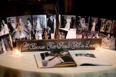Sweetheart Table At Wedding Reception | love this idea for the guest sign in area..