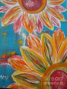 Bright and Natural.  A reminder that Spring will be here soon.  Painted in November by Julie Crisan.