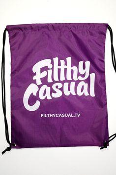 Filthy Casual Drawstring Bag