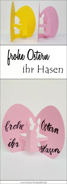 Schnelle Osterkarten in 10 Minuten basteln – Frohe Ostern ihr Hasen Today I will show you how you can make quick Easter cards yourself in 10 minutes. Preschool Crafts, Easter Crafts, Ernest Est Celeste, Diy And Crafts, Crafts For Kids, Diy Ostern, Easter Printables, Business For Kids, Happy Easter