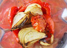 Het tomatsås med rostade grönsaker