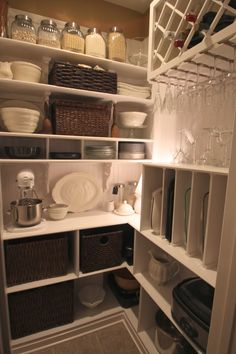 Reinventing Eden- how to transform your useless space into a beautiful, functional Butler's Pantry.