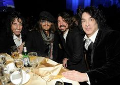 Alice Cooper, Johnny Depp, Dave Grohl and Paul Stanley
