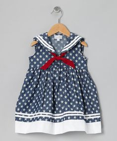 Take a look at this Navy Stars Sailor Dress - Infant, Toddler & Girls by Fantaisie Kids on #zulily today!
