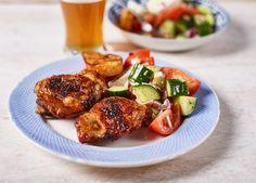 Görög saláta tökéletes csirkecombbal :O