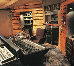 I have posted this picture I guess, as a Tribute, for perhapes the one of the best recording studio in the small Island of Northern Ireland in it's time! Thank you Mr Wallace!    Control room shot of Mud Wallace's 24 track recording studio designed by  black car fly over the bridge