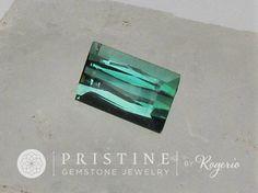Tourmaline Green Emerald Cut Gemstone Fine Jewelry Pendant October Birthstone