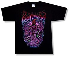 "INSANE CLOWN POSSE - ""MILENKO SWIRLS"" BLACK T-SHIRT - NEW ADULT MEDIUM M ICP"