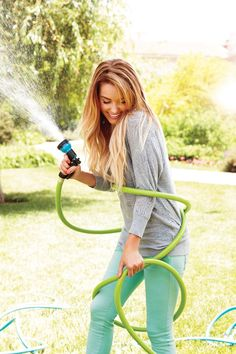 oh my gosh, i hate it when i'm playing in the hose pipe in my cute clothes and someone catches me looking so happy and put together.