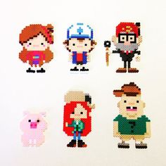 Gravity Falls magnet set perler beads by pixelizedcreations (original design bu the_oluk)
