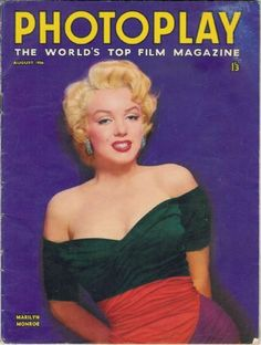 Photoplay magazine 08-1956. Front cover photo of Marilyn Monroe.