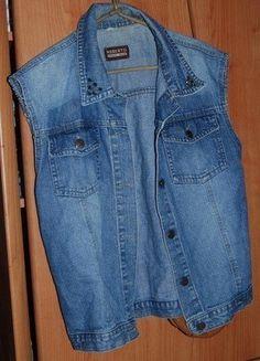 Kup mój przedmiot na #vintedpl http://www.vinted.pl/damska-odziez/inne-ubrania/15342452-kamizelka-jeansowa-diy-cwieki