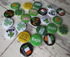 We are starting to make you St Patrick's Day orders - if you need some Irish themed badges for celebrations - then make sure you check out our huge selection ☘️  https://www.koolbadges.co.uk/st-patricks-day-c-22.html?utm_content=buffer9c350&utm_medium=social&utm_source=pinterest.com&utm_campaign=buffer #Irish #Badges