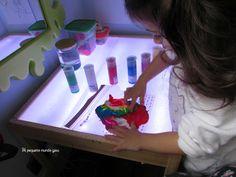colores mesa luz