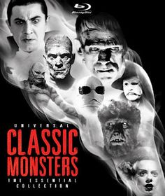 Universal Classic Monsters: The Essential Collection Blu-ray: Dracula, Drácula, Frankenstein, Bride of Frankenstein, The Wolf Man, The Mummy, The Invisible Man, Phantom of the Opera, Creature from the Black Lagoon 3D
