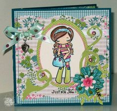 Miss Anya Collection - The Greeting Farm Rubber Stamps