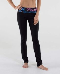 Lululemon Skinny Groove Pant *Full-On Luon $98.00Black/Petal Pop Multi - love these! Just ordered, hope they fit