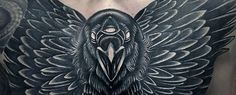 Crow Tattoo Designs For Men