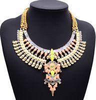 Nuevo lujo Exaggera colgante joyería brillante collares y colgantes elegante gargantilla collares buena calidad 2015 collares za K323