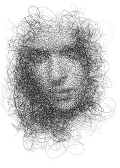 Doodling taken to a whole new level... contemplation personified!