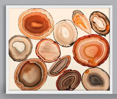 Geode Print Agate Art Agate slice Rock Art by CapricornPress