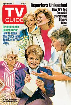 TV Guide - April 30,1988.  The Golden Girls and Dr. Ruth.