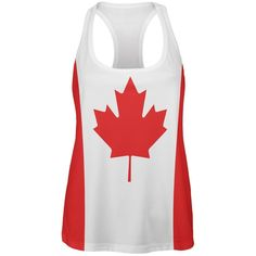 Canada Flag Womens Work Out Tank Top
