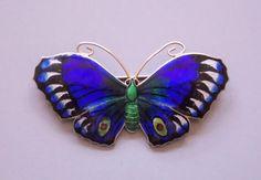 Very Large ART Deco Silver Enamel Butterfly Brooch John Atkins Birmingham 1918   eBay