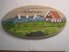 Lovely Swedish painting on wood
