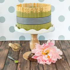 Chocolate Matcha Pocky Cake Matcha Mousse Recipe, Pocky Cake, Whipped Butter, Coffee Cream, Chocolate Coffee, How To Make Cake, Delicious Desserts, Dessert Recipes, Yummy Food