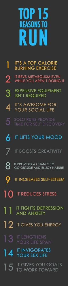 Top 15 reasons to run