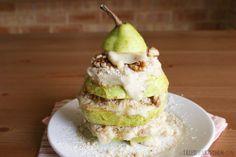 Pear walnut and mock banana ice cream tower (via Tales of a Kitchen)