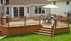 Trex Bi-level deck with Trex Railings