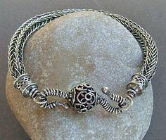Sterling Silver Viking Knit Handmade Bracelet ($99.00)