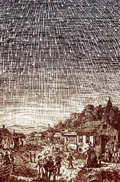 "Stars Fell on Alabama - a real event, btw.  It refers to a spectacular occurrence of the Leonid meteor shower that had been observed in Alabama in November of 1833, ""the night the stars fell."""