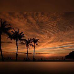 Waves in the sky, Rasa Ria beautiful sunset...at Shangri-La's Rasa Ria Resort & Spa, #Penang.