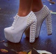 Cream color high heel booties
