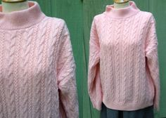 Plus Size 1960s Vintage Womans Pink Cable by HiddenTreasureHunter, $22.00