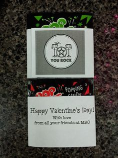 "Mini Pop Rocks with wrap around valentine. ""You Rock""  Graphic originates on Write.Click.Scrapbook."